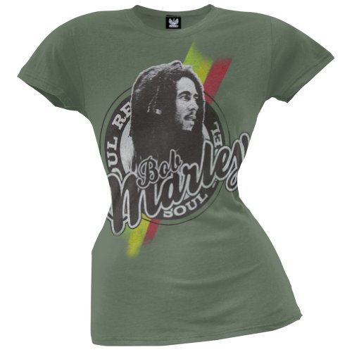 Bob Marley Damen T-Shirt Grün Grün (Farbe Rasta Marley Bob)