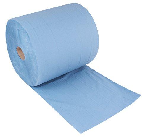 Putztuchrolle blau | 1000 Blatt 3-lagig | 36x38 cm | randverleimt geprägt und nassfest | von...