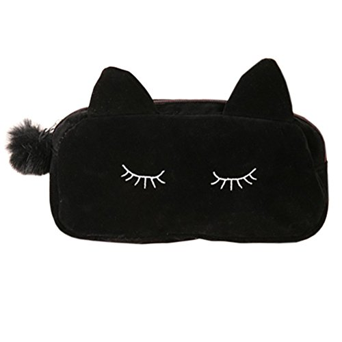 koreanische-art-cosmetic-bag-wasserdicht-verfassungs-fall-beautycase-cat-schwarz