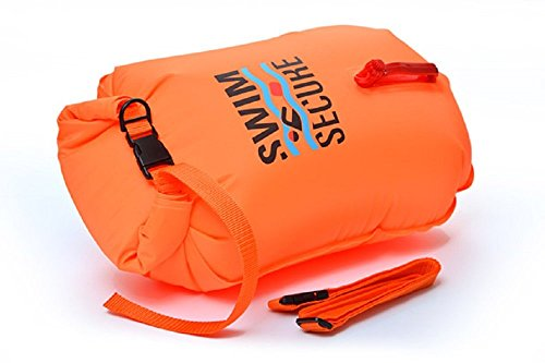 Swim Secure L901/28 - Boya de Natación Aguas Abiertas, Impermeable, Naranja, S (20 L)