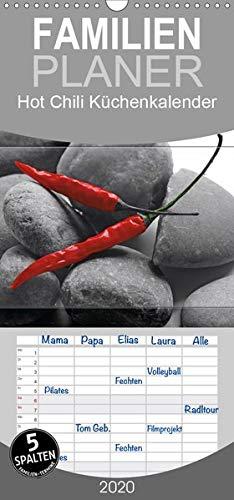 Hot Chili Küchen Kalender - Familienplaner hoch (Wandkalender 2020, 21 cm x 45 cm, hoch)