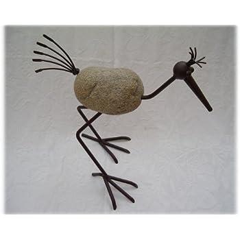 Unbekannt steinvogel modell goran 30 ca h 40 cm dekovogel for Gartendeko aus stein und metall