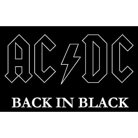 AC/DC Back in Black Music Alta Calidad De Coche De Parachoques Etiqueta Engomada 12 x 10 cm