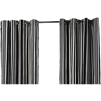 Dark Grey Ring Top Curtains