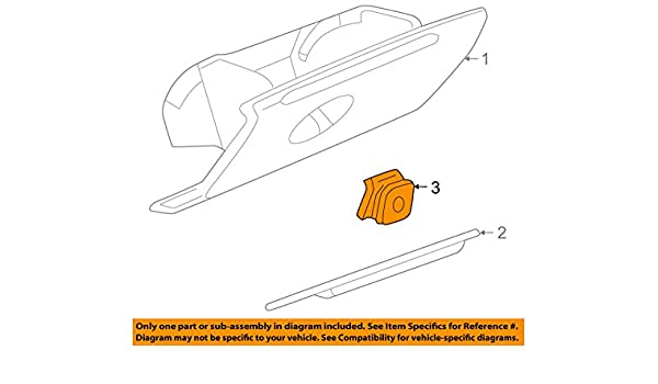 97-05 Buick Regal /& Century Glove Box Door Latch Handle Tan Neutral GM 10281138