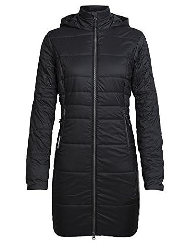 Icebreaker Damen Stratus X 3Q Hooded Jacket Jacke, Black/Jet Hthr, S