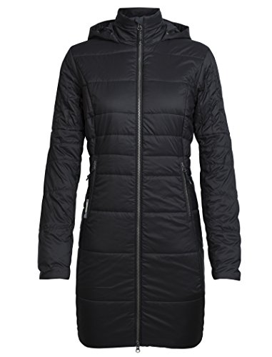 Icebreaker Damen Stratus X 3Q Hooded Jacket Jacke, Black/Jet Hthr, M