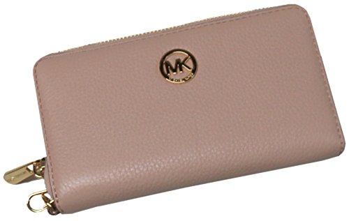 Preisvergleich Produktbild Michael Kors Fulton Large Flat Multi Function Leather Phone Case Ballet Pink