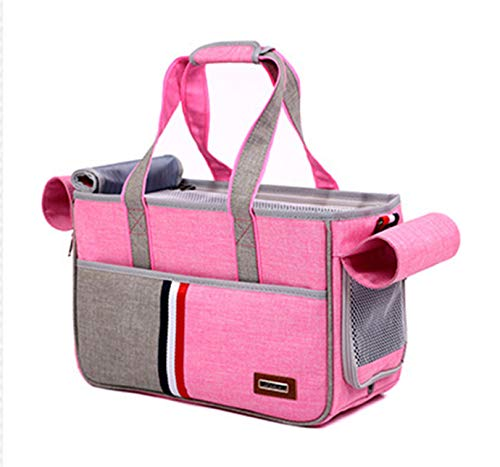 QSEVEN Atmungsaktive Travel Dog Box, Pet Transport Box Folding bequem gepolsterte Welpen und Katzen Griff Sling Schulter Tragetasche
