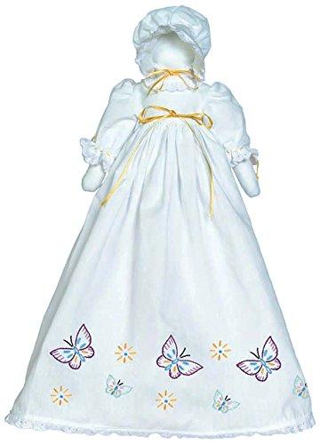 Jack Dempsey Schmetterlinge Fülle, Prägung weiß Kopfkissenbezug Puppe Kit -