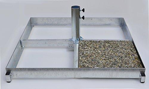 UNIVERSAL pLATTENSTÄNDER-pour installations éoliennes-wEBCAM-stations météorologiques fUNKANTENNEN sATELITENSTÄNDER-- --tuteurs mANHATTEN-großschirme-une configuration plate-porte-cadre en métal 4,5 mm d'épaisseur-galvanisée - 80 microns pour großschirme avec tubes de ø (80 mm de diamètre et schirmstockdurchmesser schirmgröße fabrication préciser lors de la commande) pour l'insertion des plaques de béton blanc 40 x 40 cm-fabriqué en bade--wÜRTTEMBERG holly ® produits sTABIELO-holly-produit fabriqué ® sunshade dans le bade-wurtemberg ® dans les frais de livraison, 69 eUR) -