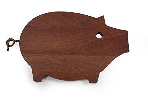 Schneidebrett Frühstücksbrett Schwein, Holz Platane