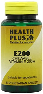 Health Plus E200 Chewable Vitamin E Supplement - 60 Tablets from Health + Plus Ltd