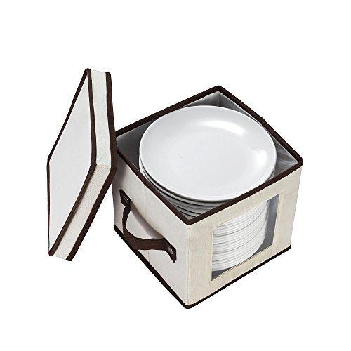 villacera Dessertschale oder Teller Brust hält Zwölf 20,3cm Schalen oder Platten von villacera