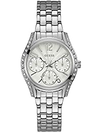 GUESS Analog White Dial Women's Watch - W1020L1