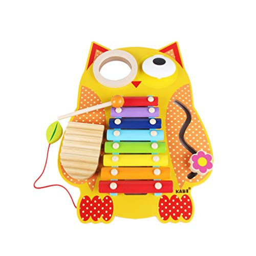 Toyvian Xylophon Spielzeug Eule Form Glockenspiel Spielzeug Acht-Ton-Schlaginstrumente Spielzeug Vorschule Pädagogisches Spielzeug für Kleinkinder Kinder