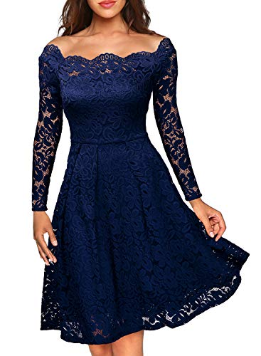 eedfd327af523 -60% MIUSOL Women s Off Shoulder Floral Lace Evening Party Dress