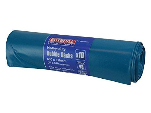Faithfull blau robuste Abfallsäcke einsetzbar (10)