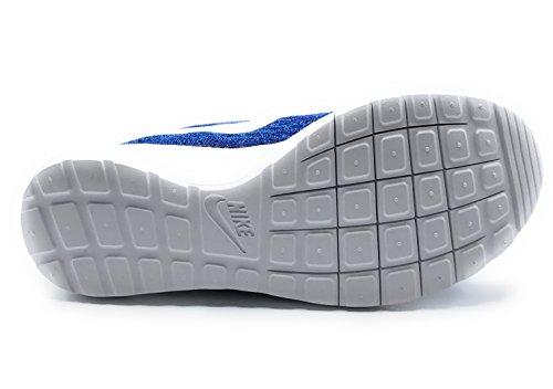 Nike - Roshe Flyknit, Scarpe da corsa Donna Photo Blue/White/Iridescent