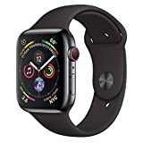Apple Watch Series 4 (GPS + Cellular) cassa 44 mm in acciaio inossidabile Nero siderale e cinturino Sport Nero