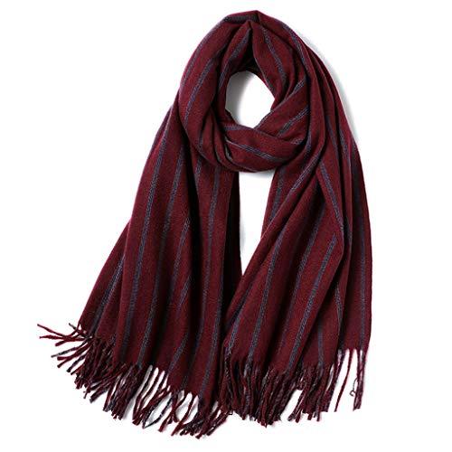 Zwei Dicke Streifen Farbe (QTT Schal Weibliche Herbst Und Winter Streifen Dicke Warme Schalkragen (Farbe : #2))