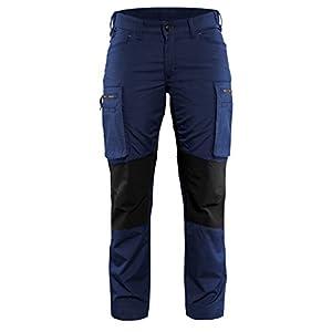 'blakläder Mujer Pantalones de trabajo de servicio»Stretch Tamaño C30en color azul marino/negro, 1pieza, 715918458999C30