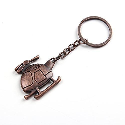 Bronze Hélicoptère Porte-clés (Helicopter Keyring)