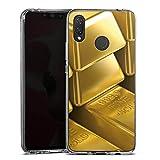 DeinDesign Huawei P Smart Plus Silikon Hülle Case Schutzhülle Goldbarren Gold Barren