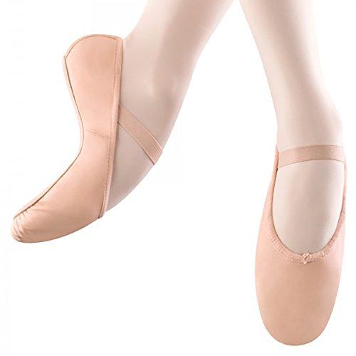 BLOCH Erwachsene Arise, Ballettschläppchen Leder, Chromleder Sohle. Haut (Lachs) (39.5 EU, Haut (Lachs)) (Haut-leder-schuhe)