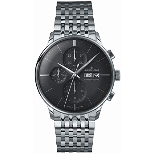 Mens Junghans Meister Chronoscope Automatic Chronograph Watch 027/4324.45
