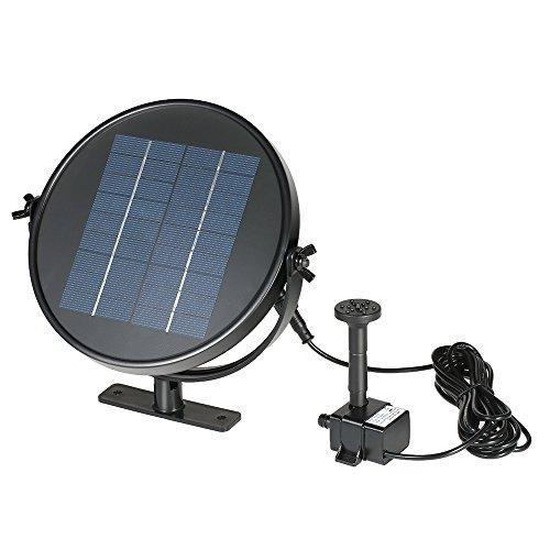 Anself Siegel-Form Solar Brunnen Wasserpumpe Bürstenlose Teichpumpe mit 4 Verschiedenen Brunnendüsen