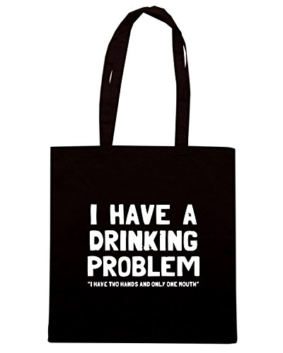 T-Shirtshock - Borsa Shopping BEER0073 I Have A Drinking Problem Nero