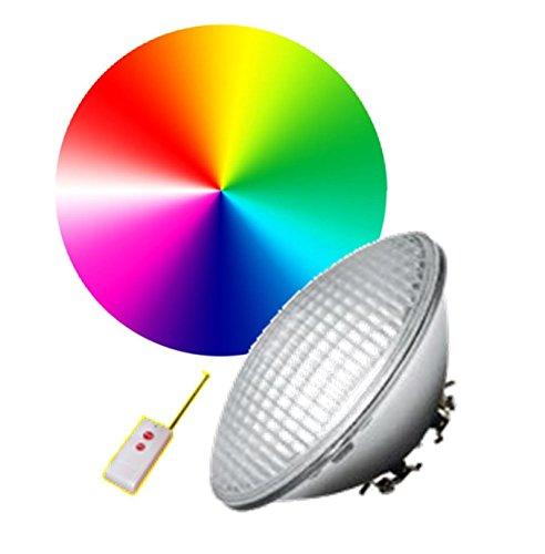 LAMPE PISCINE 546 LED MULTICOLORE 30 W - STANDARD PAR56 - 19 AMBIANCES DONT BLANC