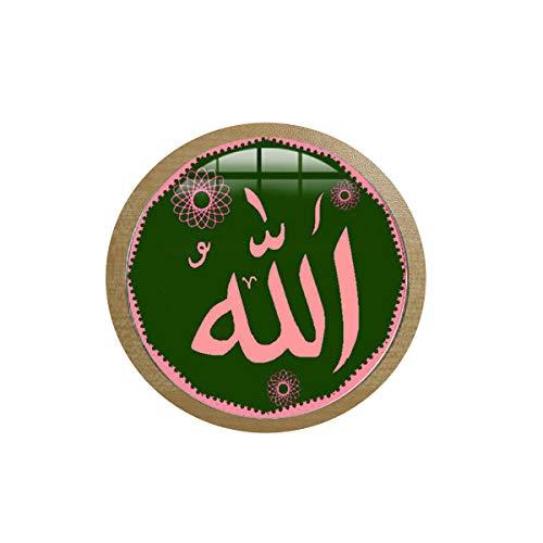 asd Arabische islamische Allah Bless Halskette Muslim Religiöse Schmuck Allah Zeichen Kunst Foto Glas Dome3 Ice Box Aufkleber Tafel Aufkleber