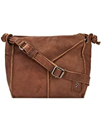 f2024af3183f1 Voi Damen Reißverschlusstasche 21131 aus strapazierfähiges Ziegenleder  Vintage-Look…