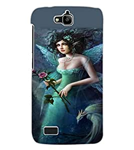ColourCraft Beautiful Angel Design Back Case Cover for HUAWEI HONOR HOLLY