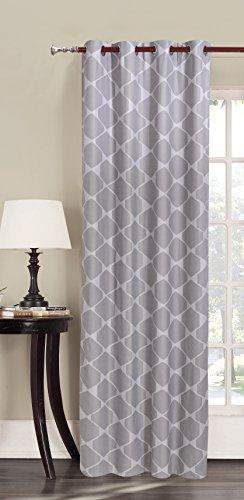 140x245 Graphit Vorhang Ösenschal Fensterdekoration geometrisches Muster Blickdicht anthrazit Stahl grau Hypnosis Rhombuses Grau-muster