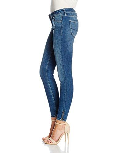 Cross Damen Skinny Jeans Giselle Blau (Mid Blue 033)
