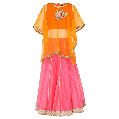 STOP to start Shoppers Stop Girls Round Neck Colour Block Ghaghra Choli...
