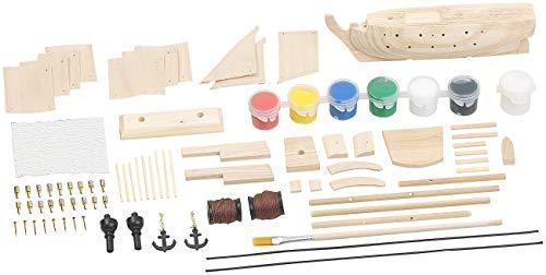 """Playtastic Schiff Modellbau Kästem: Schiff-Bausatz """"Flaggschiff"""" aus Holz (70 Teile) (Schiffs Modellbausatz) - 2"""