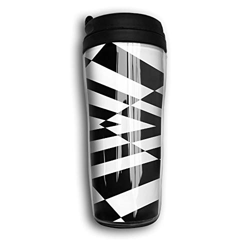 Optical Illusions Portable Curved Coffee Cups 350ML Vacuum Insulated Thermal Mugs With Splash Proof Lid Illusion Iced