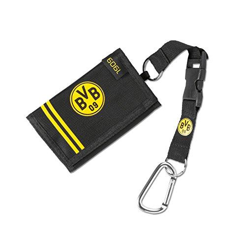 Borussia Dortmund 1909 Geldbörse mit Karabinerhaken, Geldbeutel, Portmonee - Plus Gratis Lesezeichen I Love Dortmund