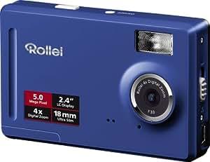 Rollei Compactline 50 Digitalkamera (5 Megapixel, 4-fach digit. Zoom, 6 cm (2,4 Zoll) Display) blau