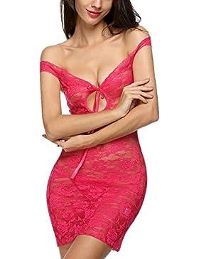 Avidlove Lencería camisón blusera conjuntos de encaje floral para mujer