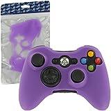 ZedLabz silicone cover for Microsoft Xbox 360 controller - protective skin rubber bumper case - purple