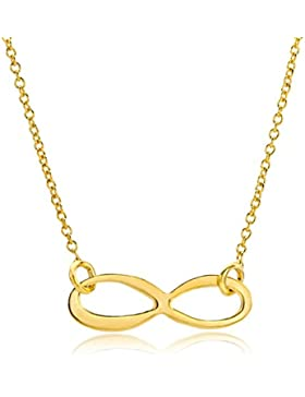 Miore Damen-Collier Halskette Infinity Anhänger 375 Gelbgold 47.5 cm