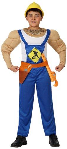 Atosa 8422259160106 - Verkleidung Muskelbepackter Schreiner, Jungen, Größe: (Kind Mann Muskel Kostüm)