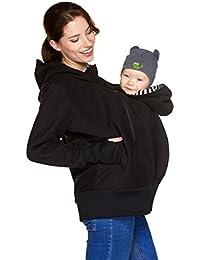 Be! Mama 3in1 - Tragejacke / Pulli & Umstandsjacke & Damenjacke in einem aus kuscheligem Fleece, Modell: BERGAMO