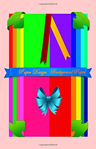Paper Design: Background Paper (Scrapbook Paper Rainbow Colored Sheet Collage Decoupage  Series 2 (5.5x8.5), Band 2) -