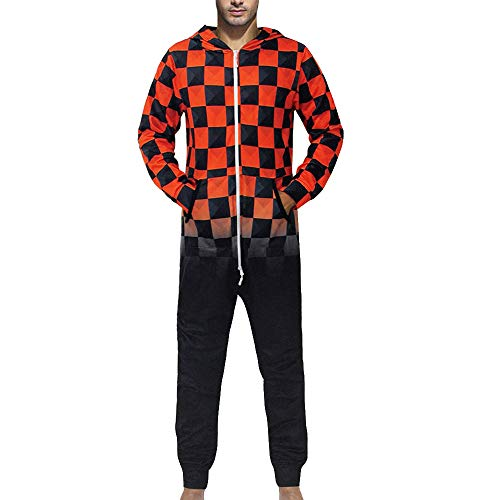 Sweatshirt Herren,SANFASHION Männer Kapuzenpullover Familie 3D Printed Jumpsuit -